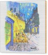 Cafe Terrace At Night - Van Gogh Wood Print