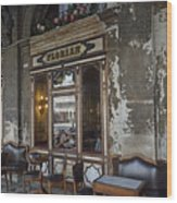Cafe Terrace On Piazza San Marco Wood Print