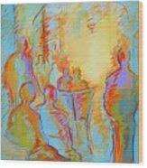Cafe Three Wood Print