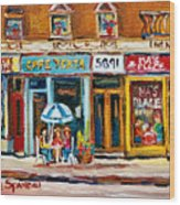 Cafe Yenta And Ma's Place Wood Print