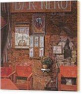 caffe Nero Wood Print
