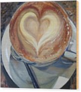 Caffe Vero's Heart Wood Print