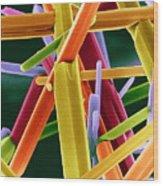 Caffeine Crystals, Sem Wood Print by Dr Jeremy Burgess