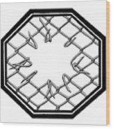 Caged 1 Wood Print
