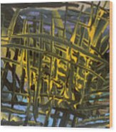 Caged Wood Print by Helene Henderson
