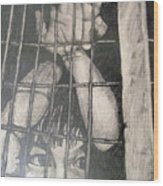 Caged Wood Print