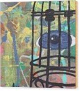 Caged Vision  Wood Print