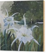 Cahaba Lilies Wood Print