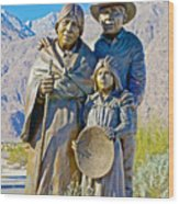 Cahuilla Band Of Agua Caliente Indians Sculpture On Tahquitz Canyon Way In Palm Springs-california Wood Print