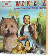 Cairn Terrier Art Canvas Print - The Wizard Of Oz Movie Poster Wood Print