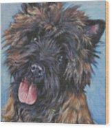 Cairn Terrier Brindle Wood Print by Lee Ann Shepard