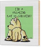 Cairn Terrier Sunshine Wood Print
