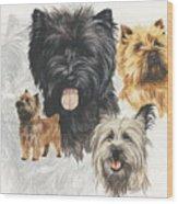 Cairn Terrier Revamp Wood Print