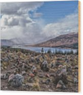 Cairns Of Loch Loyne Wood Print