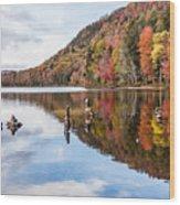 Cairns On Moss Lake Wood Print