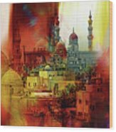 Cairo Egypt Art 01 Wood Print