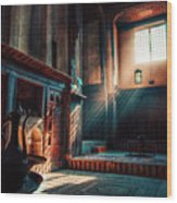 Cairo, Egypt -  Interior Of A Room In The Famous Bayt Al Suhaymi Located At Al Muizz Street In Cairo Wood Print