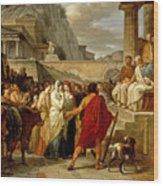 Caius Furius Cressinus Accused Of Sorcery Wood Print