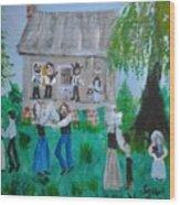 Cajun House Dance Wood Print