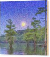 Cajun Moon Wood Print