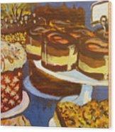 Cake Case Wood Print