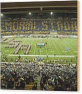 Cal Memorial Stadium On Game Day Wood Print by Replay Photos