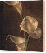 Cala Lilies Wood Print