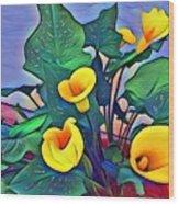 Cala Lily Caliente Wood Print