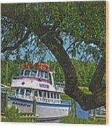 Calabash Deep Sea Fishing Boat Wood Print
