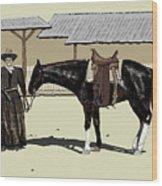 Calamity Jane Wood Print