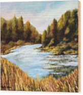 Calapooia River Wood Print