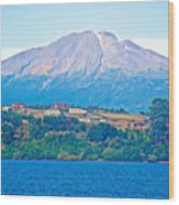 Calbuco Volcano Over Llanquihue Lake From Puerto Varas-chile Wood Print