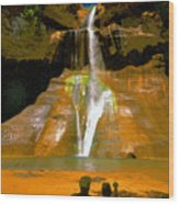 Calf Creek Falls Utah Wood Print