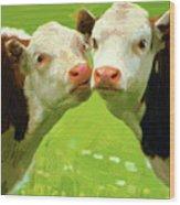 Calfs Wood Print