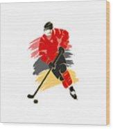 Calgary Flames Player Shirt Wood Print