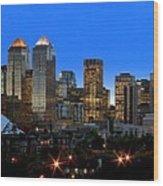 Calgarys Skyline Wood Print