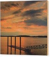 Calibogue Dock Wood Print