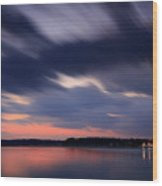 Calibogue Sound After Dark Wood Print