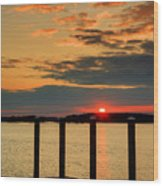 Calibogue Sound Sunset Wood Print