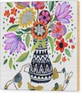 Calico Bouquet Wood Print