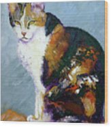 Calico Buddy Wood Print