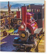 Calico Ghost Town Train Wood Print