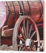 Calico Ghost Town Water Wagon Wood Print