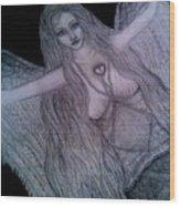 Calico Hippie Angel Wood Print