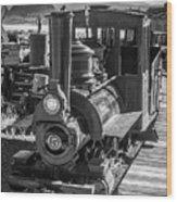 Calico Odessa Train In Black And White Wood Print