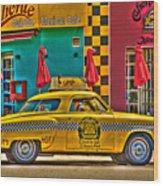 Caliente Cab Co Wood Print