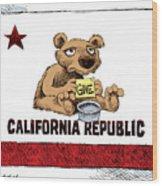 California Budget Begging Wood Print