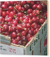 California Cherries Wood Print