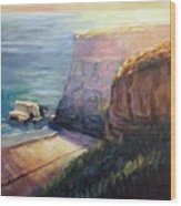 California Cliffs Wood Print