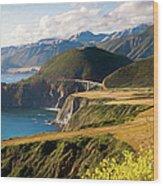 California Coast -  A View Of Bixby Ap Wood Print